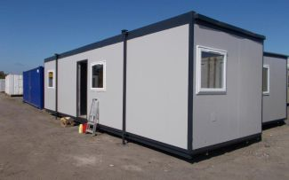 32' x 10' Plastisol Steel Office Unit, Bilingham, Teesside