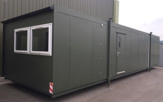 40' x 12' Plastisol Steel Office Unit, York