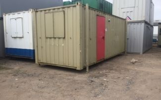 20' x 8' Anti-Vandal Steel Office Unit, York