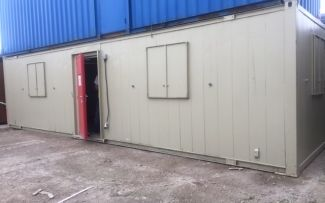 32' x 10' Anti-Vandal Steel Office Unit, York