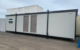 32'x10' Plastisol Steel Office, Billingham, Teesside