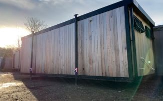 24' x 9' Cedar Clad Marketing Suite, York