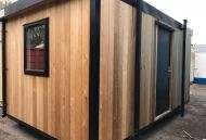 16' x 9' Timber Clad Double Office Unit.