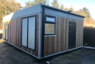 26' x 16' 2 Bay Cedar Clad Single Storey Modular Building