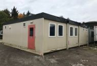 28' x 32' Plastisol Steel Three Bay Modular Building