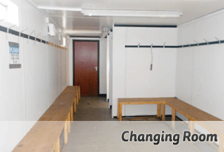 Modular changing rooms are ideal for sports grounds